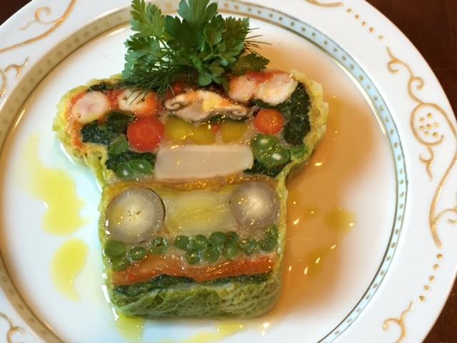 有機野菜と海の幸のテリーヌ